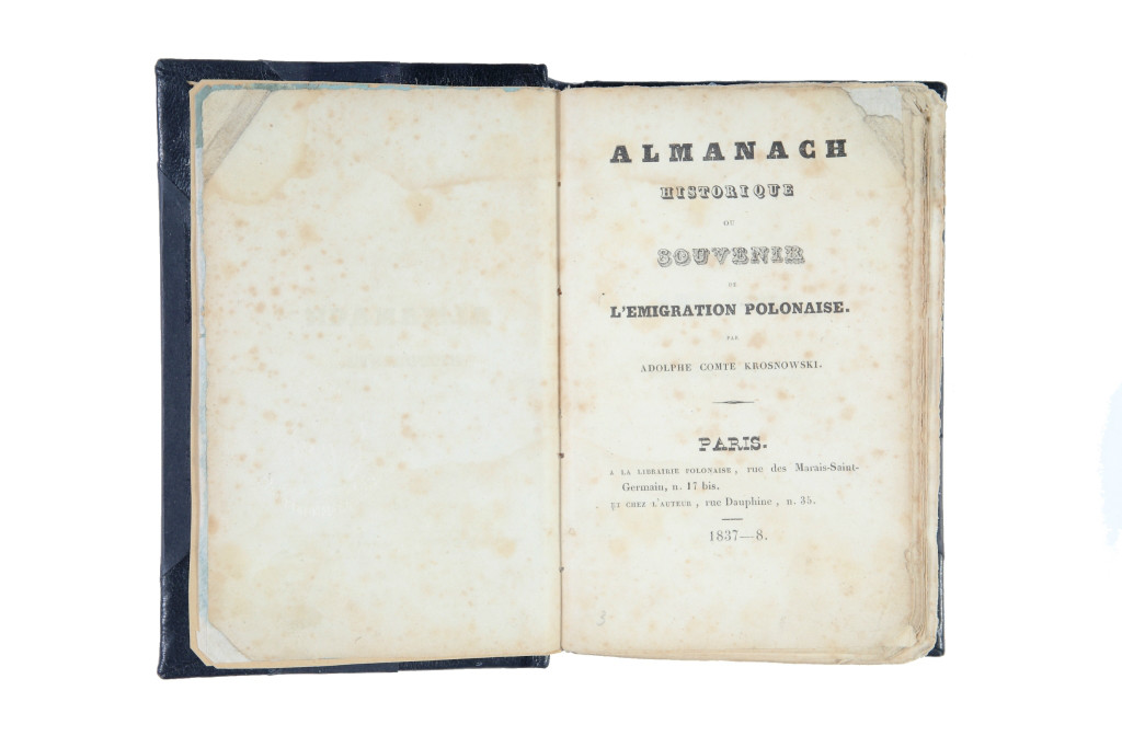 Almanach historique ou Souvenir de l'emigration – wirtualny obiekt miesiąca