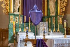 Wnętrze kościoła pw. Nawiedzenia Najświętszej Maryi Panny w Ostrołęce