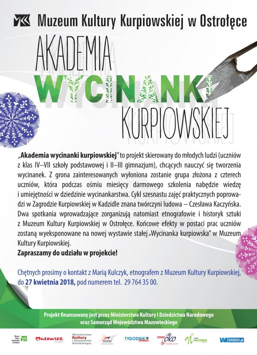 "Rusza ""Akademia wycinanki kurpiowskiej"""