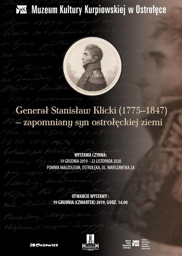 """Wystawa planszowa """"Generał Stanisław Klicki (1775–1847) – zapomniany syn ostrołęckiej ziemi"""""""