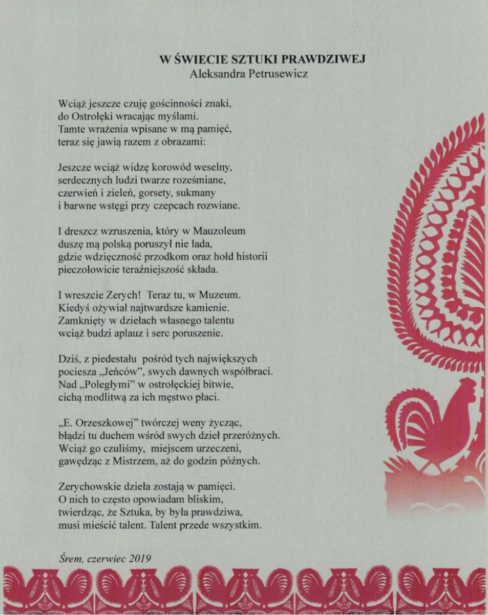 Podziękowania wierszem
