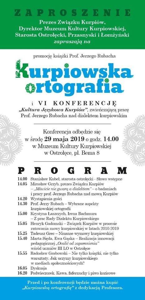 "VI Konferencja ""Kultura Językowa Kurpiów"""