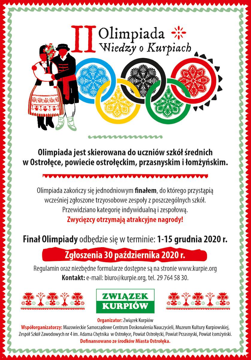 Rusza II Olimpiada Wiedzy o Kurpiach