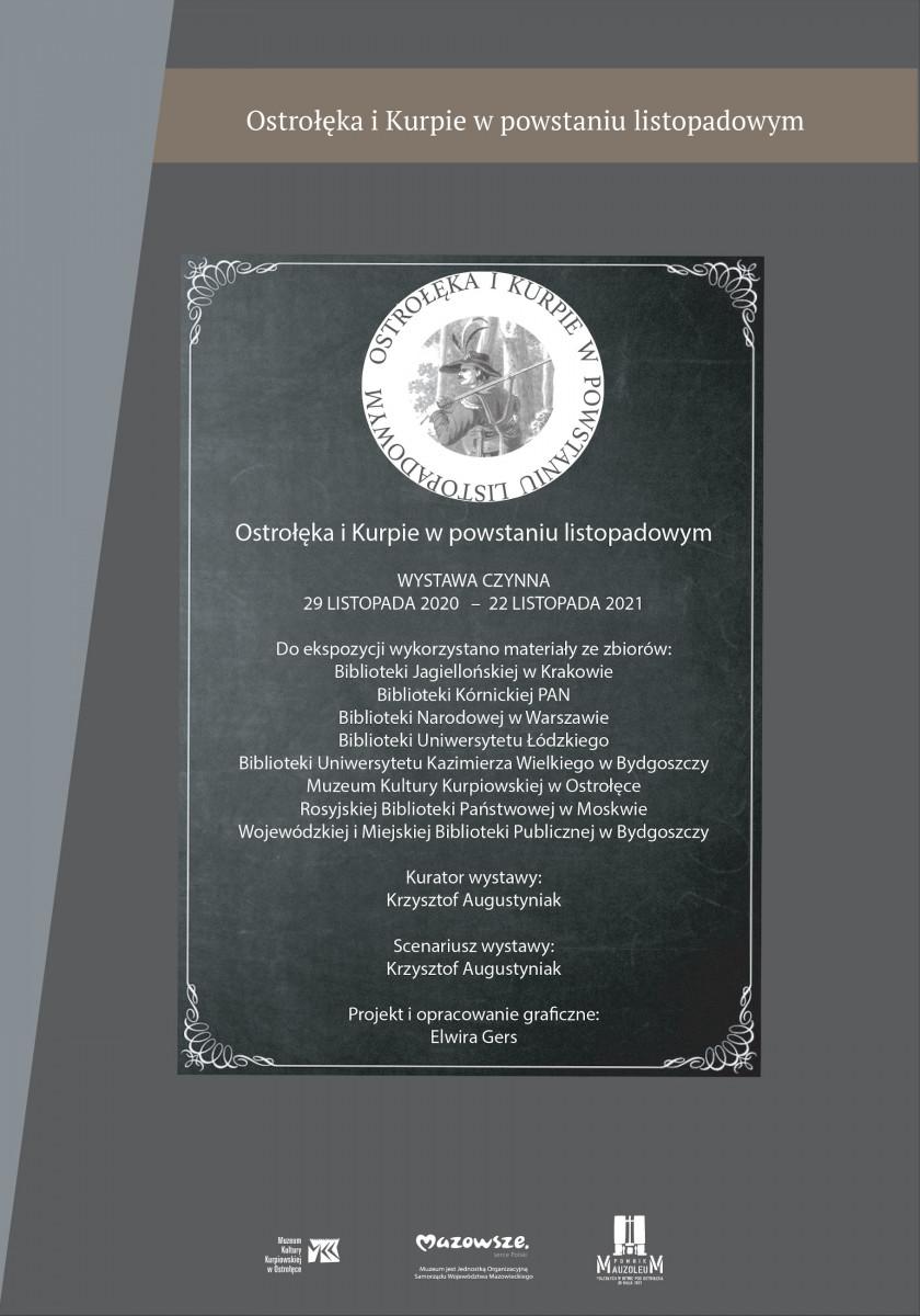 """Wystawa """"Ostrołęka i Kurpie w powstaniu listopadowym"""""""