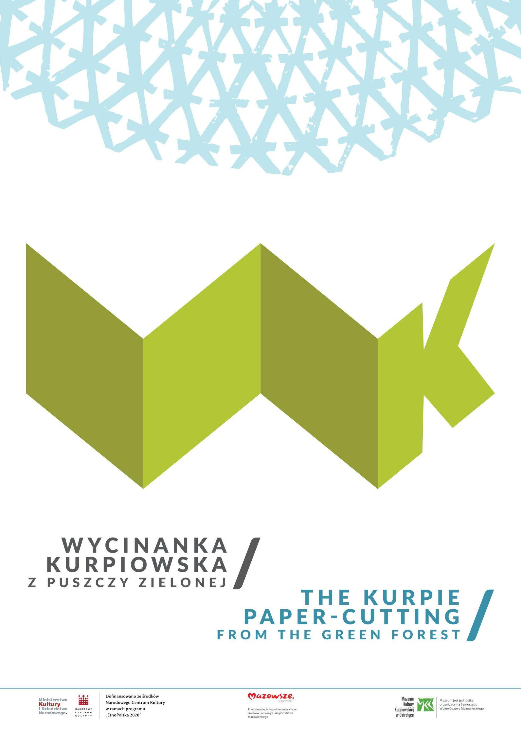 """Wystawa planszowa """"Wycinanka kurpiowska z Puszczy Zielonej"""""""