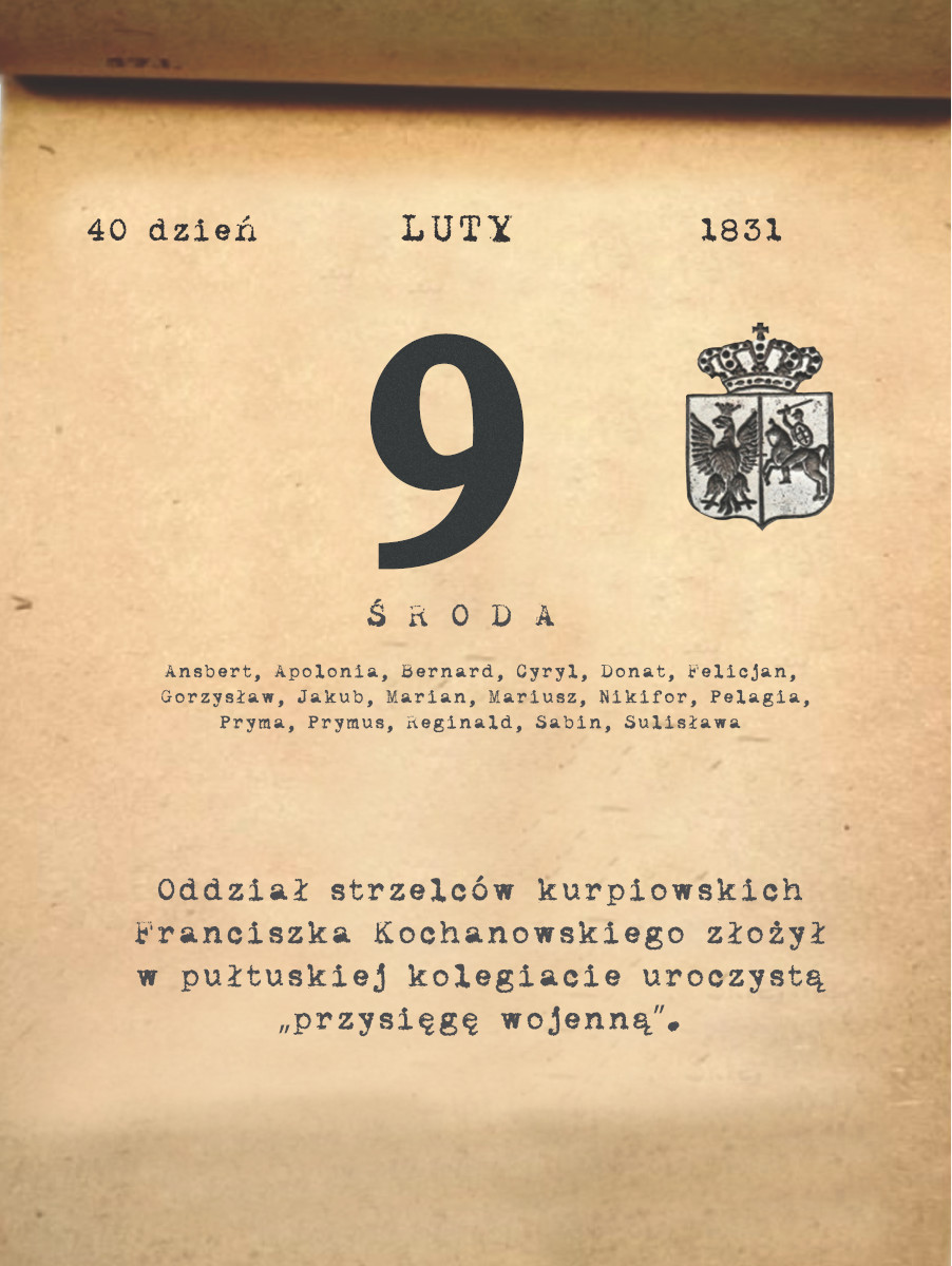 Kalendarz powstania listopadowego. 09.02.1831 r.