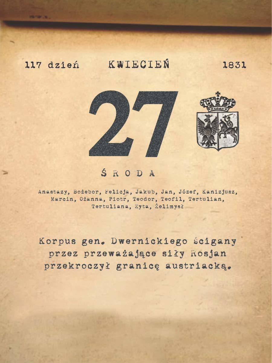 Kalendarz powstania listopadowego. 27.04.1831 r.