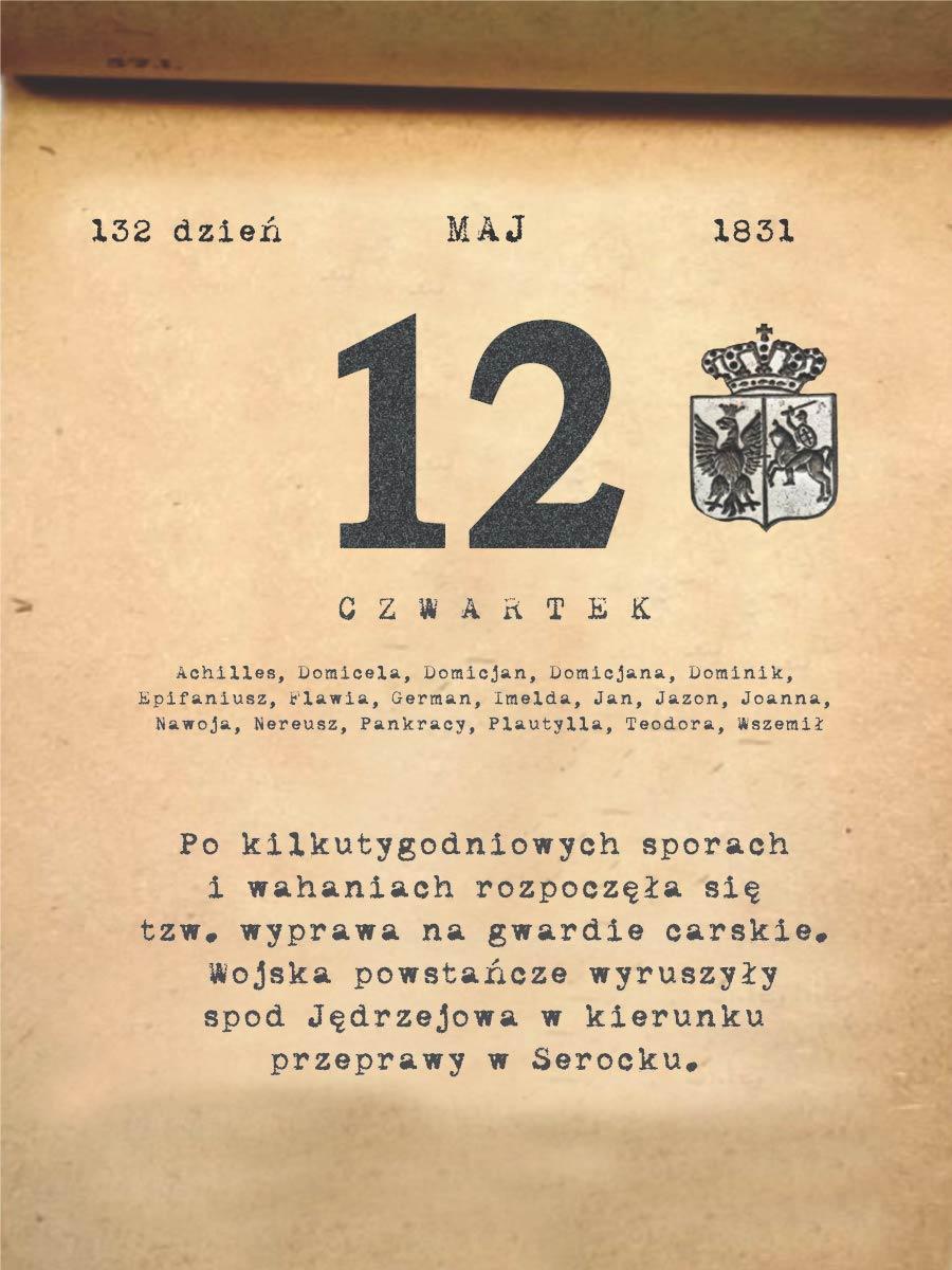 Kalendarz powstania listopadowego. 12.05.1831 r.