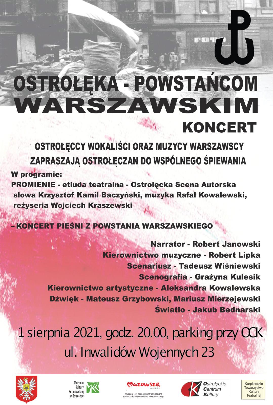 """""""Ostrołęka – Powstańcom Warszawskim"""""""